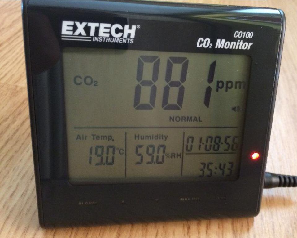 merací prístroj na oxid uhličitý